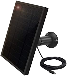 Weatherproof Solar Panel for Outdoor Solar Powered Security Camera, Solar Panel Power Supply for Wireless Outdoor Battery ...