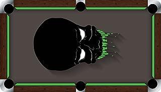 Pool Table Felt Billiard Cloth - VIVID - Alien Skull