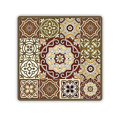 Sottotutto Decorato in Legno sotto Bicchiere, Piatto, pentola Quadrato 32x32 cm