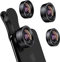 iPhone Camera Lens 3 in 1 Phone Lens Kit, 198 Fisheye Lens + 120 Super Wide-Angle Lens + 20x Macro Lens for iPhone Samsung...