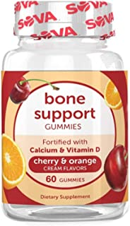 Sponsored Ad - SOVA Nutrition Bone Support - 60 Gummies - Cherry & Orange Cream - with Calcium & Vitamin D for Support and...