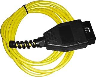 イーサネット - OBD間インターフェースケーブル高性能E-SYS ICOMコーディングFシリーズBMW ENET 2M障害コード診断スキャナー(色:黄色)
