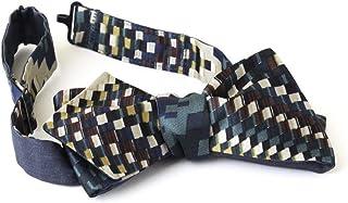 Papillon Reversibile da Uomo in Viscosa, Seta e Cotone nei Colori Blu Elettrico e Multicolore Navy, Verde, Bordeaux e Avor...