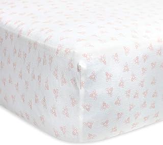 Burt's Bees Baby - Fitted Crib Sheet, Honeybee Print, 100% Organic Cotton Crib Sheet for Standard Crib and Toddler Mattres...