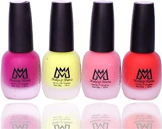 Makeup Mania Premium Nail Polish Set, Velvet Matte Nail Paint Combo of 4 Pcs, Perfect Gift for Girls and Women (MM-59), Multicolor, 300 g