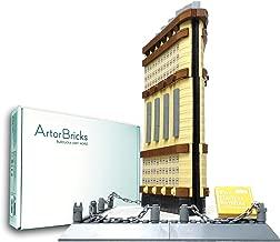 ArtorBricks Architectural New York Flation Building Large Collection Building Set Model Kit and...