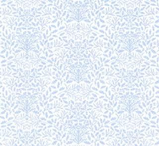 Melody Jane Dollhouse William Morris Design Acorns Miniature Print 1:24 Wallpaper Blue
