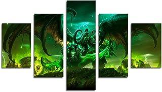 AtfArt 5 Piece Illidan Stormrage Lord of Outland Black Temple World of Warcraft Art Demon..