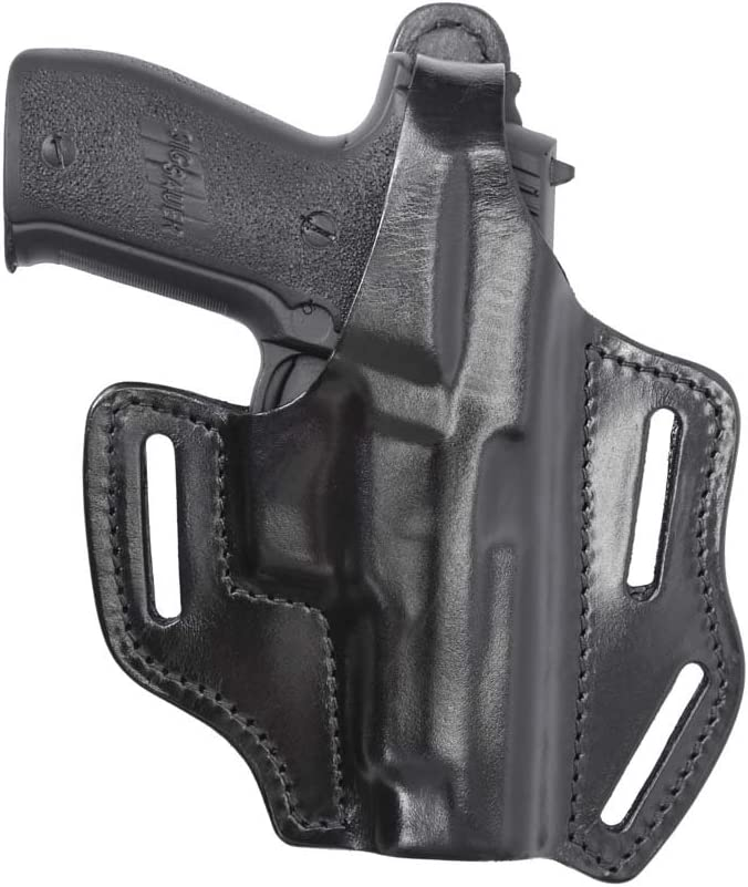 Max 89% Popular product OFF Multi-Purpose Pancake Leather Holster Black Hand Walth Right