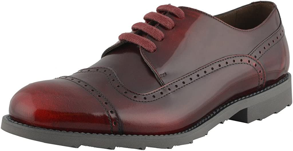 Dolce & Gabbana Men's Burgundy Wing Tip Leather Oxfords Shoes