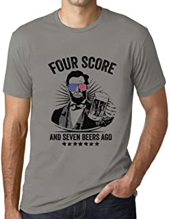 Ultrabasic - Men's Graphic Printed Four Score and Seven Beers Ago 4th July