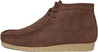 Mens Wallabee Genuine Leather Lace Up Boots Moccasin Toe Chukka