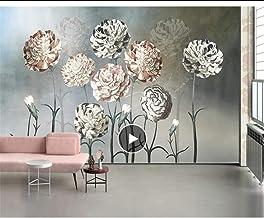 صورة مخصصة ورق جدران اللوحة ثلاثية الأبعاد الجو زهرة الأزرق الطازج الزهور تلفزيون خلفية خلفية خلفية لغرفة الأطفال MRQXDP