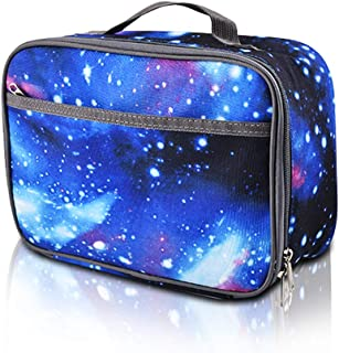 Insulated Lunch Box Kid, Galaxy Durable Reusable Lunch Bag Bento Bag, Easy to Clean, Blue