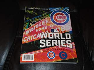 2016 CHICAGO CUBS CLEVELAND INDIANS WORLD SERIES PROGRAM CUBS WIN WORLD SERIES