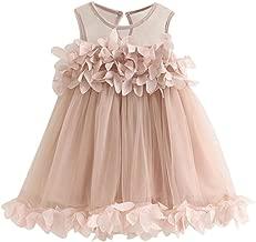 Hemlock Kids Girls Flower Princess Dress Sleeveless Pageant Dresses Toddler Girls Party Dress (2 Years Old, Pink)