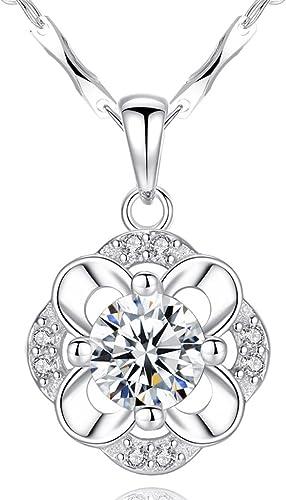 auténtico CKH Collar de Cadena de Clavícula Clavícula Clavícula Femenina Colgante de Trébol Joyería de plata Simple Regalo de Novia de Cumpleaños  Ahorre 35% - 70% de descuento
