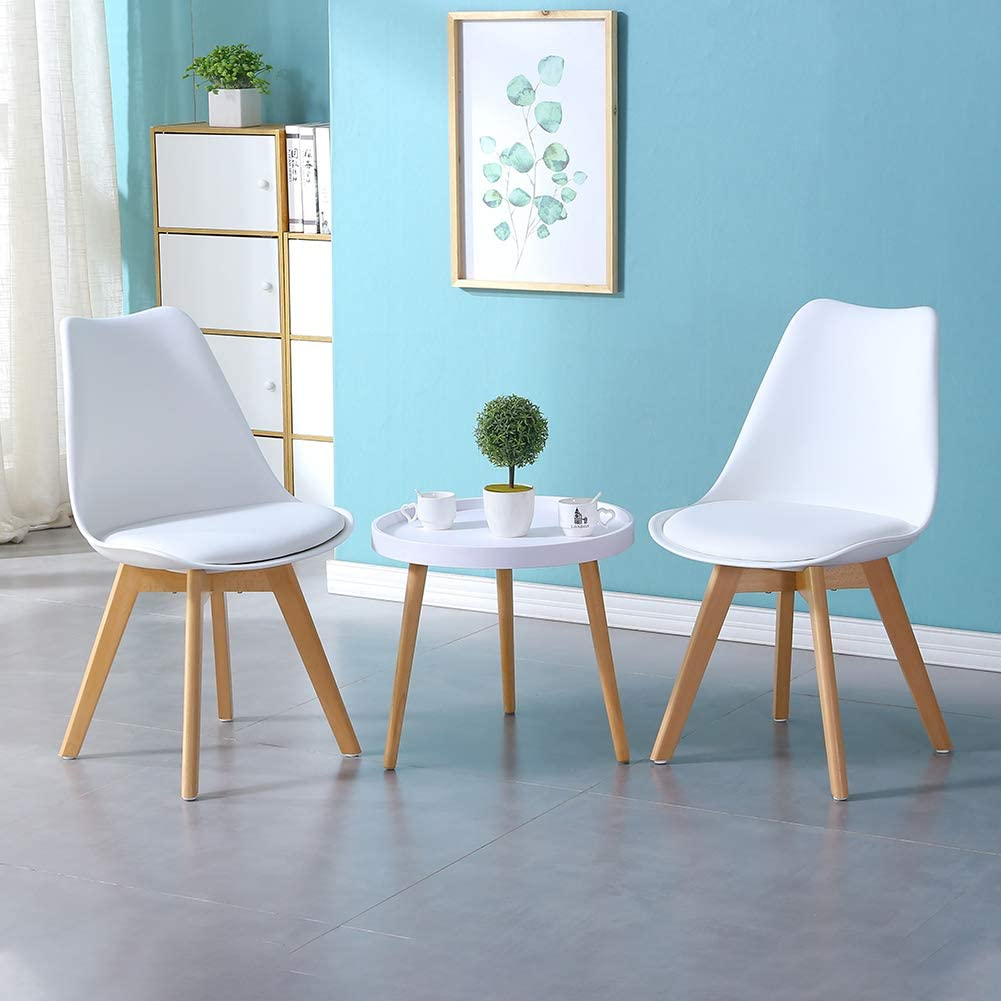 Retro Lounge Corner Chairs for Office Lounge Kitchen CLIPOP 1 PCS Grey Dining Chair Upholstered Kitchen Chairs with Beech Wooden Legs and Comfortable PU Seat