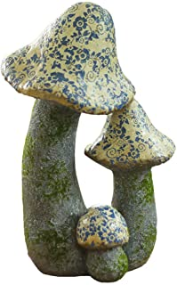 Individuality Garden Mushroom Sculpture, Ceramic Outdoor Decoration, Novelty Statue, Fairy Garden, Ideal for Gnomes and Elves