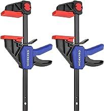 WORKPRO 2 Stuks Stalen Nylon Eenhandklemset voor Nauwkeurige Bevestiging, Klembreedte 150mm, Maximale Klemkracht 68kg, Rek...