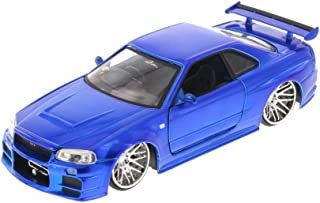 Jada Fast & Furious Brian's Nissan Skyline GT-R, Candy Blue Toys 97217 - 1/24 Scale Diecast Model Toy Car, but NO Box