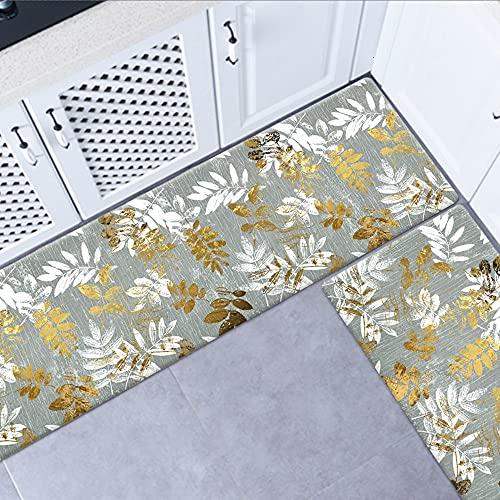 OPLJ Alfombra de Piso de Cocina Alfombra Impermeable Alfombra de Puerta Alfombra de Piso Dormitorio Cocina Alfombra de Puerta Lavable Antideslizante A16 40x60cm