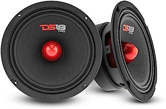 "$61 » DS18 2X PRO-GM6B Loudspeaker - 6.5"", Midrange, Red Aluminum Bullet, 480W Max, 140W RMS, 8 Ohms - Premium Quality Audio Doo..."