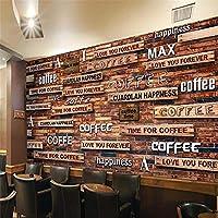 カスタム写真壁紙壁紙壁画テレビ懐かしさ3dコーヒーボード壁壁壁紙