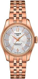 ساعة تيسوت تي-كلاسيك باليد أوتوماتيك كرونوميتر أبيض مينا لؤلؤي للسيدات T108.208.33.117.00