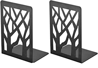 2 Packs Bookends, Book Ends for Shelves, Durable Book Holders, Book Shelf Holder Home Decorative, Metal Bookends, Black Bo...