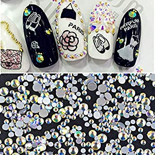 ICYCHEER Spangle Nagel Art Strass AB Nagel Kristal Circulaire Glas Stenen voor 3D Nagels Art Decoraties Manicure Tools