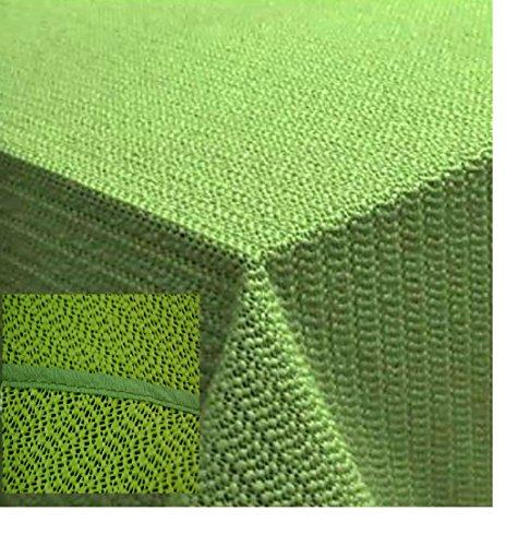 Tischdecke 110x140 cm Gartendecke Hellgrün mit Saum abwaschbar Gartentischdecke Balkon Terrasse wetterfest (Grün)