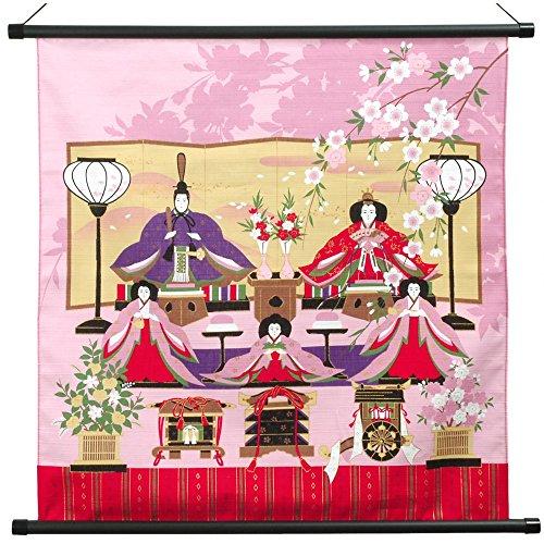 [京のみやび]タペストリー風呂敷 彩時記(小) 小ふろしき 50cm幅 桃の節句 雛祭り