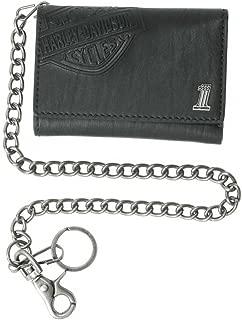 Men's Trifold Wallet, Embossed Bar & Shield, Black CR2314L-Black
