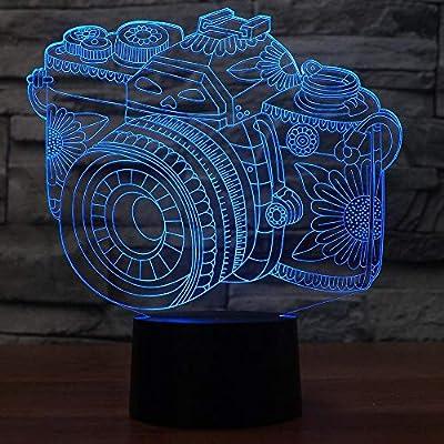 Efecto visión 3D: La lámpara creativa visual 3D es una luz de atmósfera artística innovadora. La base de plástico ABS y una placa de acrílico crean una increíble visión de efecto 3d. Luz nocturna de seguridad, material acrílico ecológico, fuente de l...