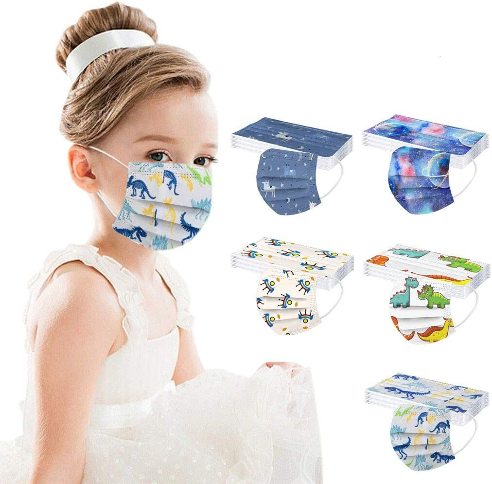 50 Pcs Kids Disposable_Face_Masks Large special price Boys Girls for Protection Spac Popular brand