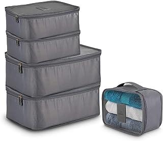 Redlemon Organizador y Bolsas de Viaje (5 piezas de distintos tamaños), Cubos para Empacar y Almacenamiento en Maleta de R...