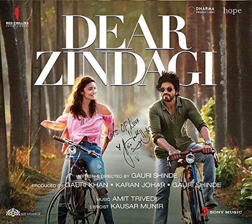 Dear Zindagi Audio CD Stg: Alia Batt, Sharukh khan (2016) Film