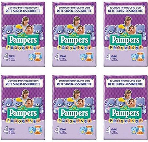 144 Windeln für Kinder Größe 4 Pampers Progressi Größe 4 Maxi Kinder