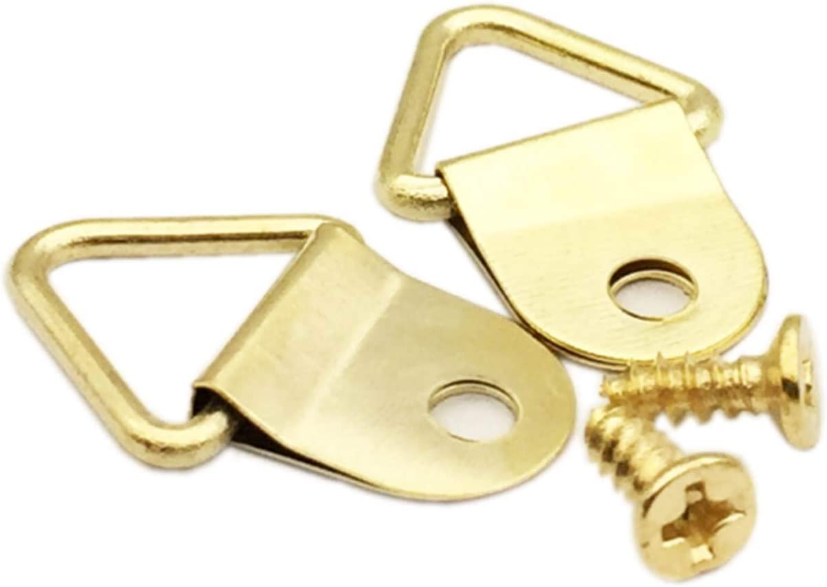 Surprise price Translated EesTeck 100 Pack Small Triangle Steel with Picture Ring Hangers