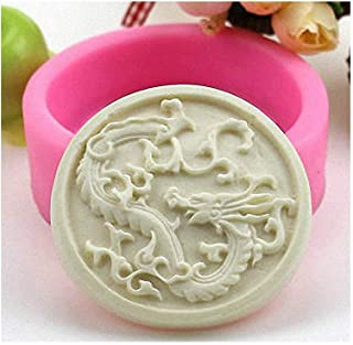 Chinese Dragon Soap Mold - MoldFun Chinese Zodiac Sign Silicone Mold for Handmade Bath Bomb, Lotion Bar