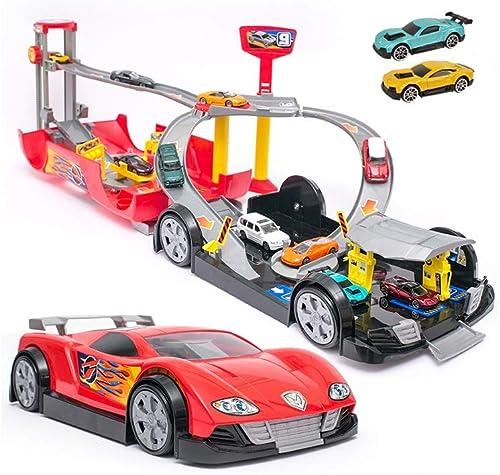 LINGLING-Verfolgen Spielzeug-Auto-Parkplatz Der Kinder Der Geb e-Jungen-Geschenk-tragbares L hfürzeug L t (Größe   L)
