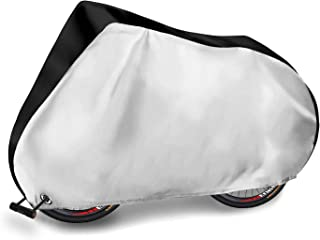 Adoric Bike Cover Waterproof Outdoor Bicycle Cover,190T Nylon Portable Anti Dust Rain UV Protection Heavy Duty Cover for Mountain Road Electric Bike with Lock-Holes and Storage Bag-XL
