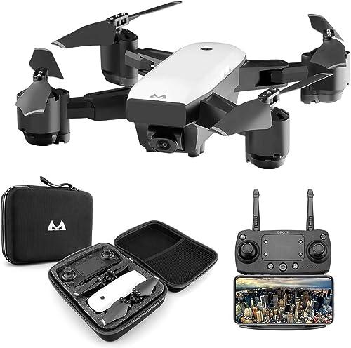Télécomhommede FPV RC Drone Mini Quadcopter Pliable Avion WiFi en Temps réel 1080P HD aérien 3D Roulant sans Headless Mode de Contrôle Facile, pour Les Enfants et Les débutants