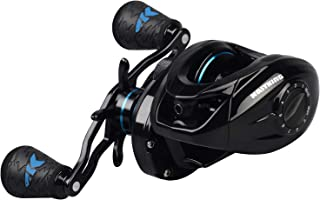 KastKing Crixus Baitcasting Reels, 6.5:1/7.2:1 Gear Ratio Fishing Reels, 17.6lbs Carbon Disc Drag, Super Polymer Grips,Carbon Infused Nylon Frame,8-pc Magnetic Brake, Low Profile Reel.