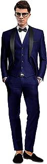 Groom Tuxedos Groomsmen Best Man Blazer Mens Wedding Suits 3 Pieces