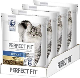 Perfect Fit Indoor 1+ – Trockenfutter für erwachsene Hauskatzen ab 1 Jahr – Unterstützt die Vitalität, verschiedene Sorten