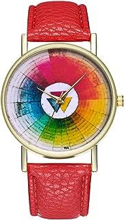 T04-A Fashion Women Ladies Flower Dial Quartz Watch Leather Wrist Watches Quartz Watch -