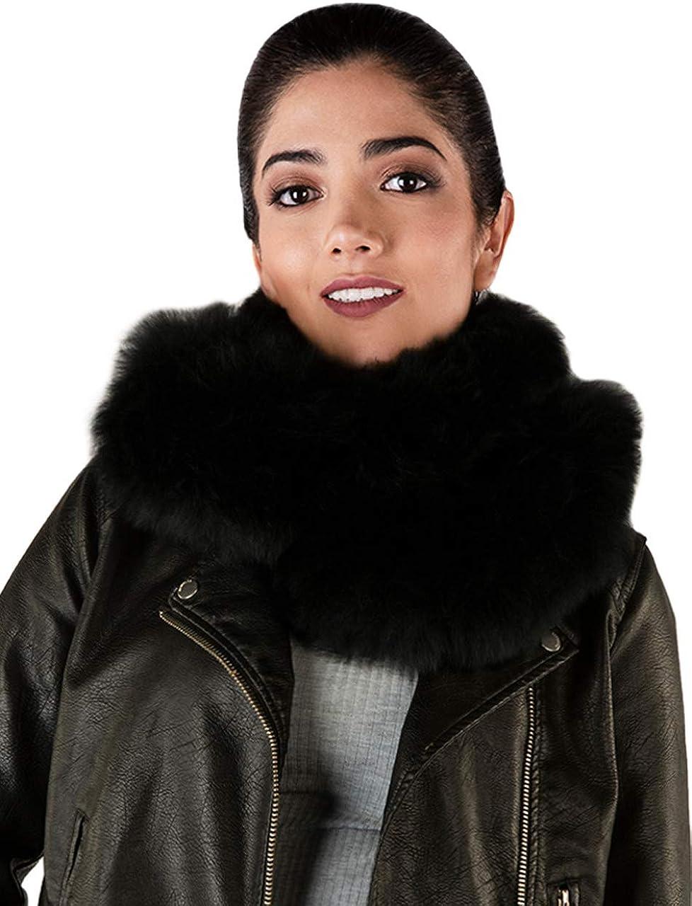 Inca Fashions Women's 100% Alpaca Fur Winter Scarf & Wrap Collar - Not Faux Fur - Guilt Free - Luxurious