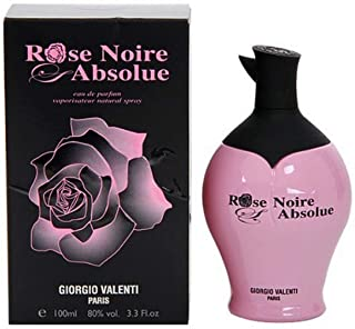Giorgio Valenti Rose Noire Absolue Women Eau De Parfum Spray, 3.3 Ounce
